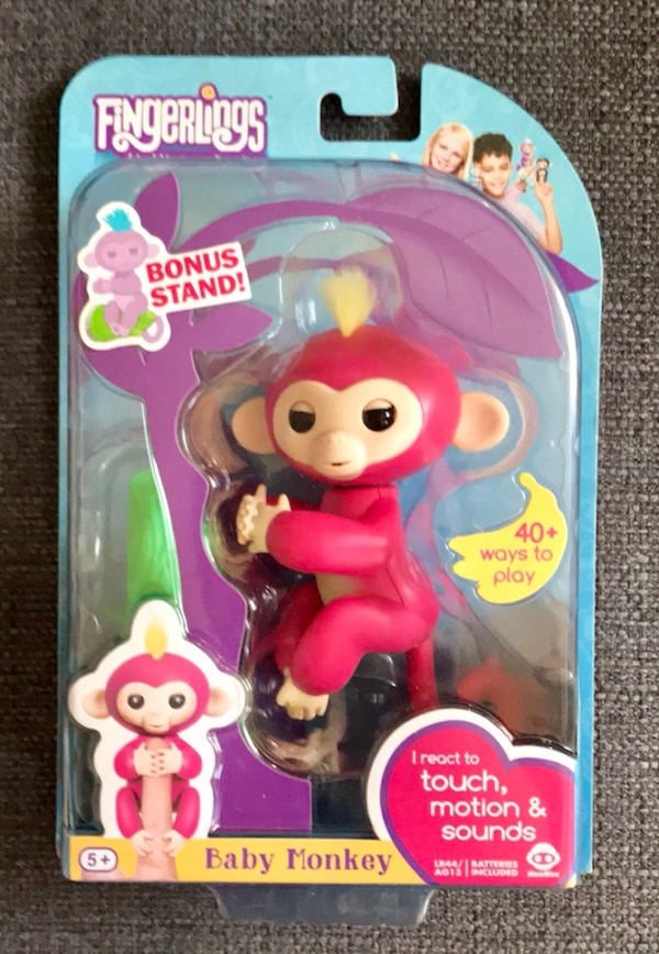 FINGERLING Interactive Pink Monkey, w/ BONUS STAND!