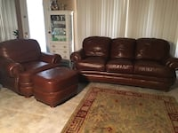 brown leather 3-seat sofa and loveseat Mesa, 85213
