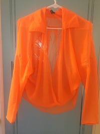 orange plunging neckline long-sleeved blouse Ashburn, 20147