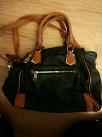 black and brown leather 2-way handbag Santa Ana, 92707