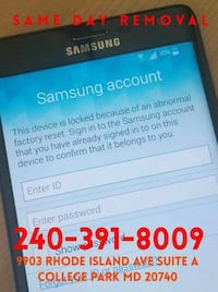 Unblock Android Samsung FRP lock Starts at $39.99 depending on the ph Beltsville