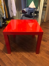 Red and black wooden table Paterson, 07503