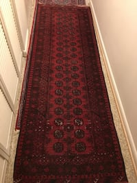 Red and black floral runner rug Centreville, 20120
