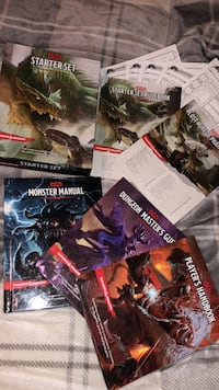Dungeons and Dragons starter kit and all handbooks