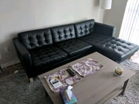 Black leather couch sectional 555 km
