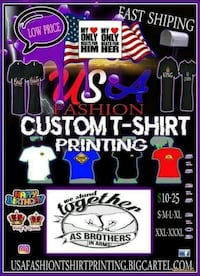 Heat press tshirt printing great quality work Fort Dodge