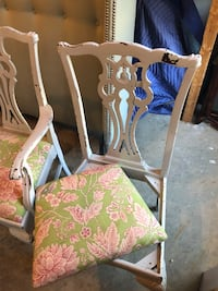 Mahogany chippendale chairs-painted Woodbridge, 22191