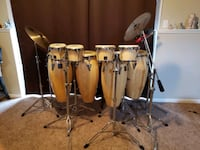 LP Drum set, bongo/conga set Davenport