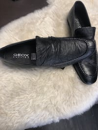Geox Size 44 Black Leather Shoe Toronto, M6E 2G8