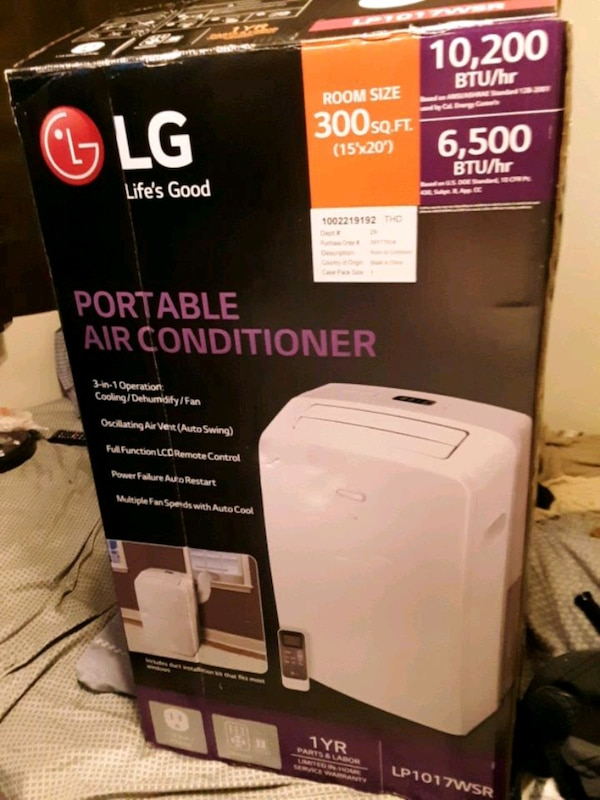 L G portable air conditioner