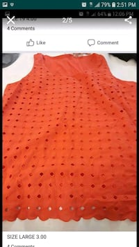 red and black polka dot tank top Columbus, 43220