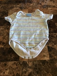 Baby's white and gray stripe onesie Châteauguay, J6K 2G3