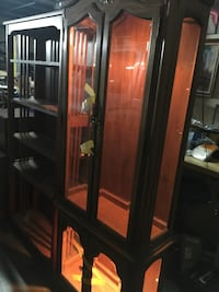brown wooden framed glass display cabinet Washington, 20024