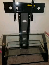 black glass top TV stand with mount Hanover, 21076
