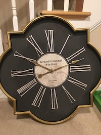 black Grand Central Station wall clock Johnson City, 37615