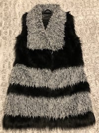 black and gray fur vest Mount Vernon, 10552