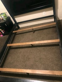 black metal bed frame with white mattress Bakersfield, 93306