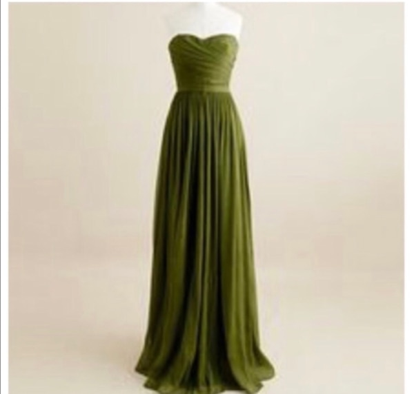 J crew forest green gown