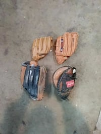 four brown leather baseball mitts Brookeville, 20833