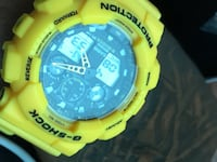 round black and yellow Casio G-Shock digital watch Long Beach, 90802