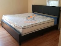 Brand new king size platform bed frame with mattress (final price) Silver Spring, 20902