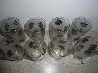* Vintage Glasses (Clear with Silver Leaves) FREDERICK