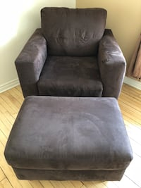 black suede sofa chair with ottoman Waterloo, N2T 2V6