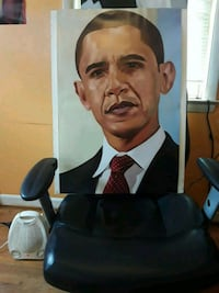 Print of Barack Obama mounted on board 42 mi