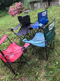 two black and purple camping chairs Manassas, 20109