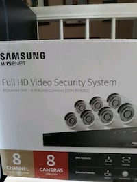 Samsung 8 cameras full HD video security system