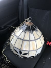 White and black Tiffiny style pendant lamp 1204 mi