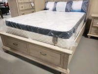 Queen mattress +box, comfort pocket.Delivery available Edmonton, T5R 5B9