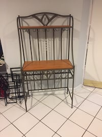 Crate and Barrel Bakers Rack/Free Wine Wall Decor