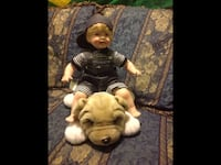 white and brown boy doll and brown dog plush toy Gaithersburg, 20879
