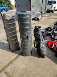 Hard cover travel golf bags
