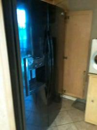 black side-by-side refrigerator with dispenser Lakewood, 90713