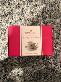 Brand new in box Royal Albert 1 teacup and saucer Markham, L3P 4K3