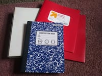 """1"" inch binder, 1 Composition notebook 2 folders Minneapolis"