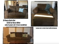 brown fabric sectional sofa collage Los Angeles