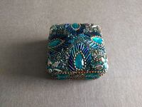 square blue and teal beaded box Ellicott City, 21043