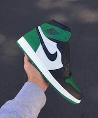 unpaired green and white Nike Air Force 1 high Payson, 85541