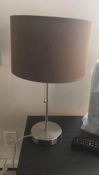 stainless steel base white shade table lamp Montréal, H3H 2A7