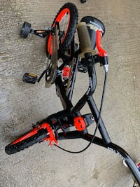 """16"""" Black and orange bmx bike with shock absorbers Mississauga, L5B 4H9"""