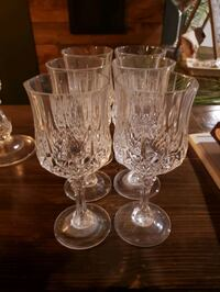 Crystal wine glasses 6 total Omaha, 68135