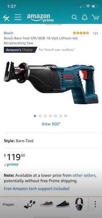 Bosch Sawzall 18v without battery Bethesda, 20817
