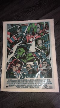 Avengers movie poster *NEVER OPENED* Newmarket, L3Y 8G5