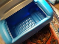 blue and white toy box