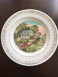 Currier and Ives plates.