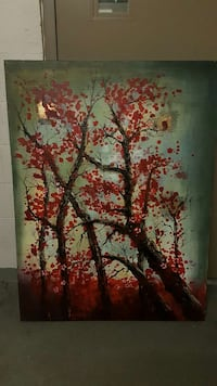 Tree painting on real canvas Vancouver, V6J 0B8