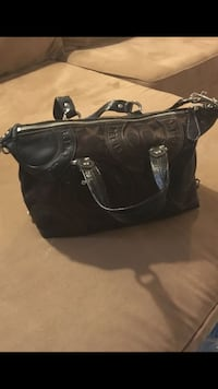 Patchwork Coach Handbag Brown Upper Darby